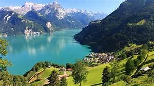 Landscape, Lake, Lucerne, Lake, Mountains, Nature