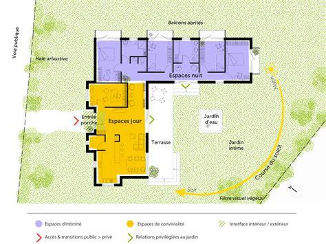 Toiture Maison En L by Plan Maison Contemporaine Toit Plat Ooreka