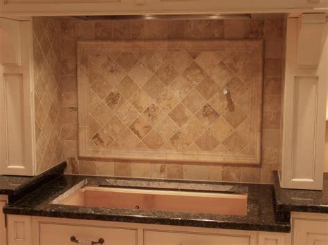 travertine tile for backsplash in kitchen great home