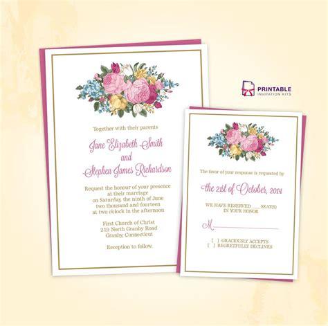FREEDownload Vintage Spring Floral Invitation and
