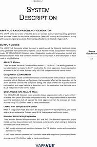 Depuy Mitek 225024 Vapr Vue Generator User Manual