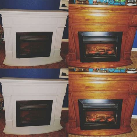 electric fireplace makeover  chalk
