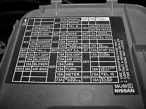 2003 Nissan Maxima Se Fuse Box Diagram