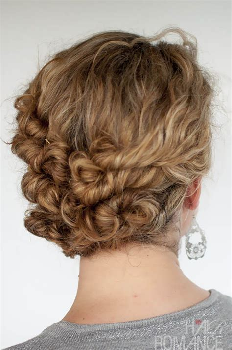 easy hairstyles  curly hair  short long