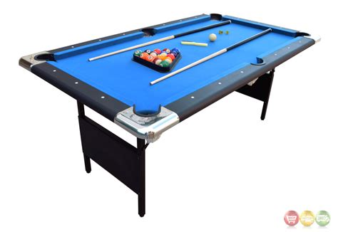 uttermost mirror blue fairmont 6 ft portable folding pool table w carrying