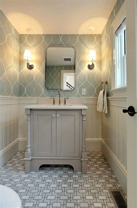 bathroom wall covering ideas half painted half wall wallpaper sustainable pals