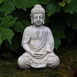 Statue Bouddha Interieur : grande statue bouddha achat vente grande statue bouddha pas cher les soldes sur cdiscount ~ Teatrodelosmanantiales.com Idées de Décoration