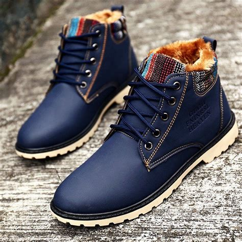 Waterproof Fashion Ankle Boots For Men Mens