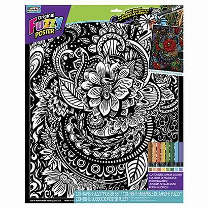 Posters Fuzzy Roseart Fascination Flora Rose Coloring
