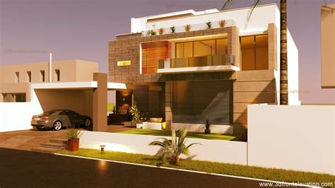 3d Front Elevationcom Beautiful Modern Contemporary