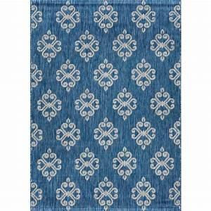 tayse rugs veranda indigo 8 ft x 10 ft indoor outdoor