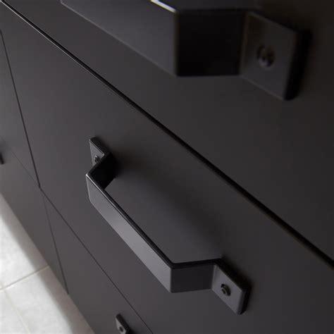 leroy merlin cuisines porte sous évier de cuisine noir fs45 mat edition l45 x