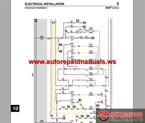 daf 95 xf electrical wiring diagram auto repair manual