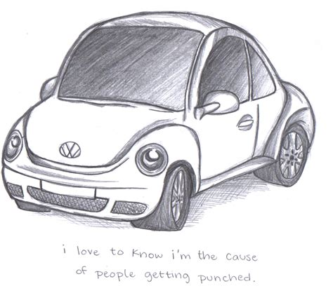 Beetle Punch Buggy Cars How To Draw Step By Drawing Pictures
