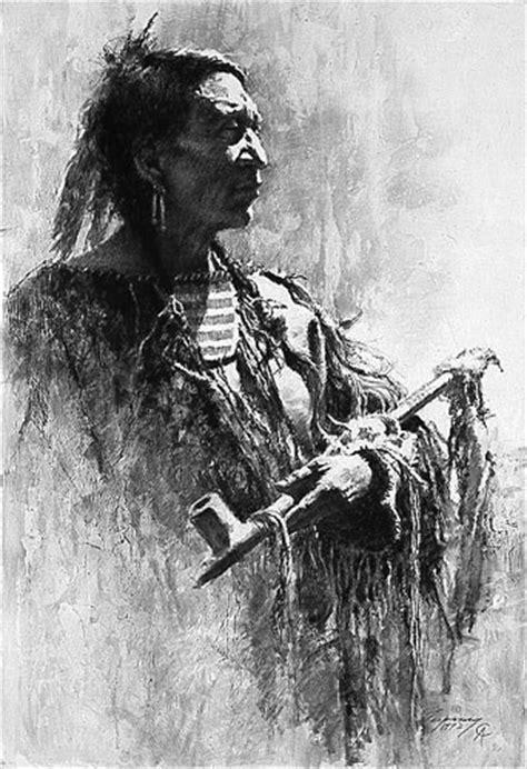 Profile of Wisdom by western artist Howard Terpning