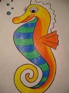 Comment Dessiner La Mer : comment dessiner un cheval de mer 9 tapes ~ Dallasstarsshop.com Idées de Décoration