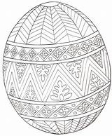Coloring Easter Egg Pages Printable Adults sketch template
