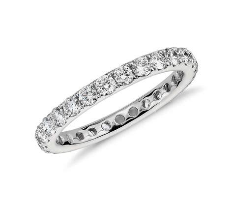 Riviera Pavé Diamond Eternity Ring In Platinum (1 Ct Tw