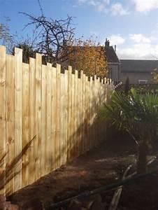 Palissade Anti Bruit : cloture de jardin en bois clture jardin en bois en pvc ou ~ Premium-room.com Idées de Décoration