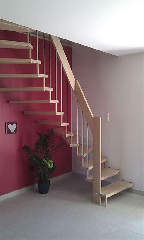 escalier bois metal pas cher escalier demi tournant en bois metal pas cher l 233 ger farbicant drome