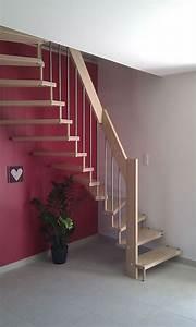 Escalier Bois Pas Cher : escalier demi tournant bois ~ Premium-room.com Idées de Décoration