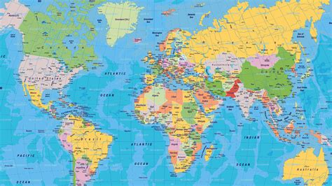 World Map  Free Large Images  Maps  World Map Wallpaper, World Political Map, Map Wallpaper