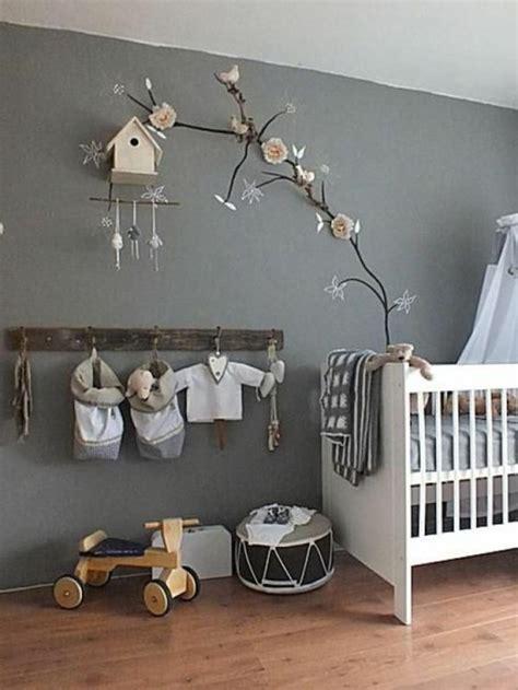 Kinderzimmer Ideen Mädchen Grau by Zweige Und Sch 246 Ne Deko Im Babyzimmer Graue Hauptfarbe