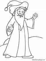 Wizard Simple Coloring Pages sketch template
