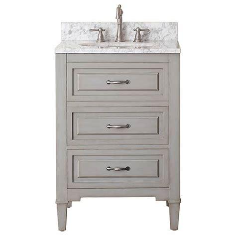 grayish blue 24 inch vanity combo with white