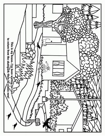 Coloring Neighborhood Pages Wiccan Map Drawing Printable