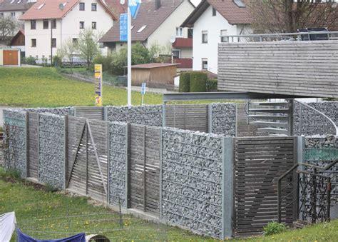 Zäune Aus Stein by Garten Sichtschutz Gartenzaun Gabionen Holz 4 Gartenzaun