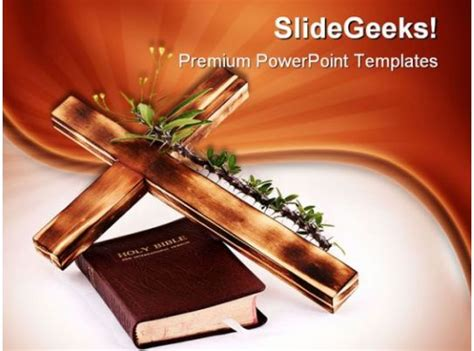 cross  bible religion powerpoint templates