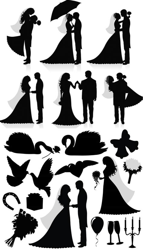 free clipart wedding silhouette clip for free 101 clip