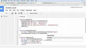 Up And Running With Google Apps Script
