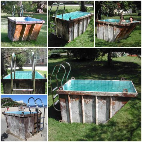 recycled mini dumpster  pool recyclart