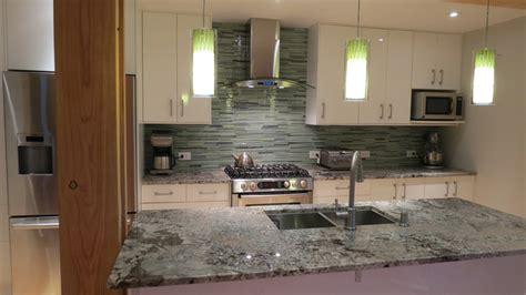kitchen countertops with backsplash linear glass tile backsplash contemporary 4324