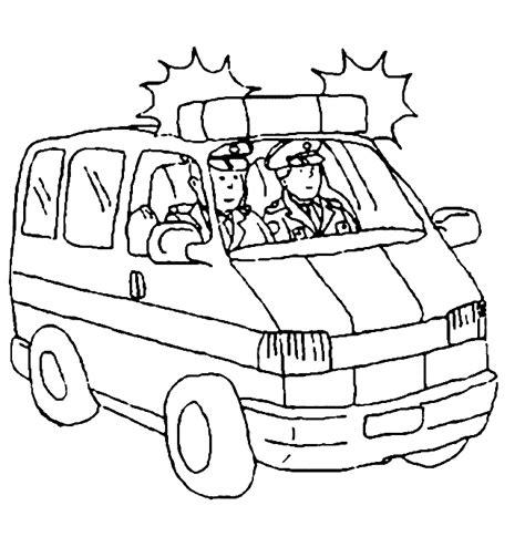 Hulpdiensten Kleurplaat by Kleurplaat Politiebus Hulpdiensten Autos