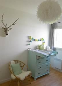 Deco chambre bebe la chambre nature et poetique de noah for Suspension chambre enfant avec pour nettoyer un matelas