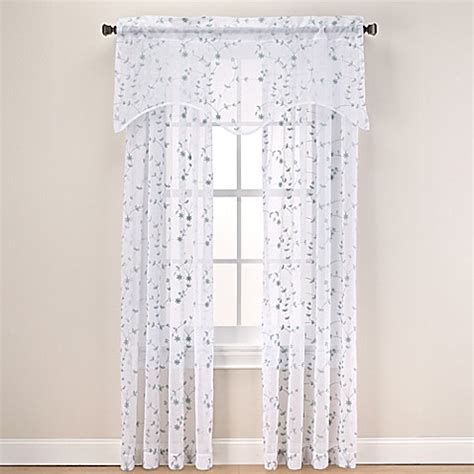 sheer curtains bed bath and beyond caspia sheer window curtain panel and valance bed bath