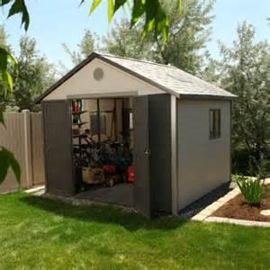 lifetime 10 ft w x 10 ft d plastic storage shed