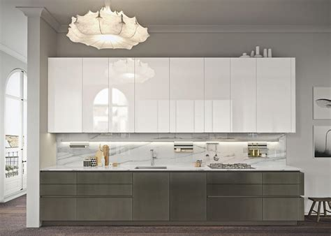 kitchen cabinets finishes look bianco artico fitted kitchens from snaidero usa 2989