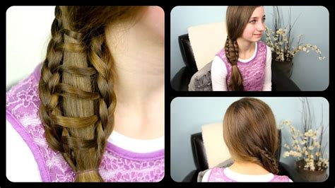 ladder braid side ponytail cute girls hairstyles youtube