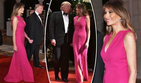 melania trump style  lady dazzles  hot pink ball gown  red cross gala expresscouk