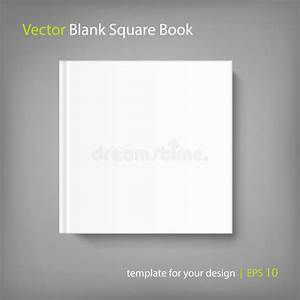 book cover template illustrator - blank square cover book template on grey background stock