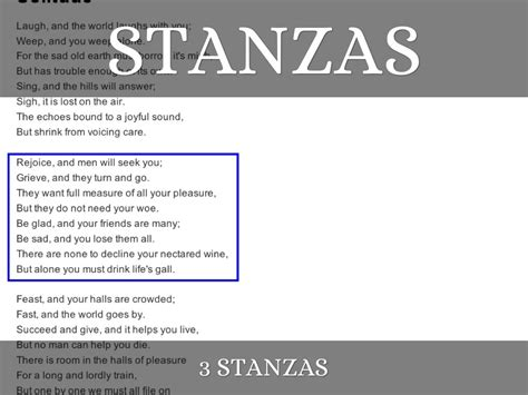 Poems with 4 Lines and 2 Stanzas
