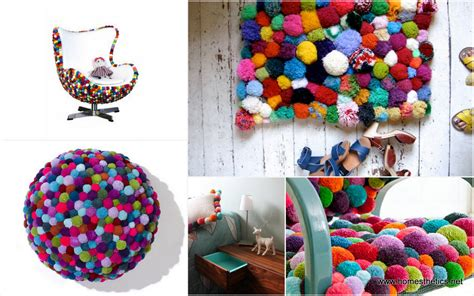 colorful diy pom pom crafts and ideas included