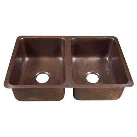 home depot kitchen sinks sinkology da vinci undermount handmade solid copper