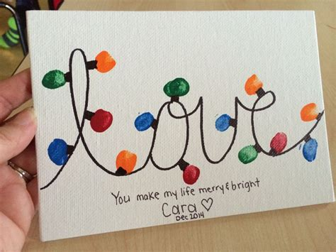 christmas love family crafts gift from students to parents quot quot lights and saying quot you make my