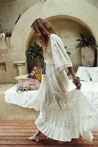 Robe Blanche Longue Boheme : 1001 visions uniques avec le style boh me chic ~ Preciouscoupons.com Idées de Décoration