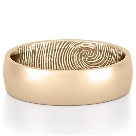 fingerprint wedding band s fingerprint on inside of